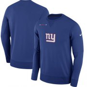 Wholesale Cheap Men's New York Giants Nike Royal Sideline Team Logo Performance Sweatshirt