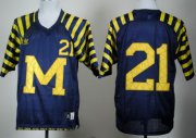 Wholesale Cheap Michigan Wolverines #21 Desmond Howard Navy Blue Under The Lights Jersey