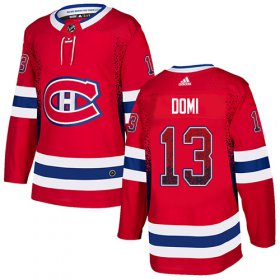 Wholesale Cheap Adidas Canadiens #13 Max Domi Red Home Authentic Drift Fashion Stitched NHL Jersey