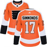 Wholesale Cheap Adidas Flyers #17 Wayne Simmonds Orange Home Authentic Women's Stitched NHL Jersey
