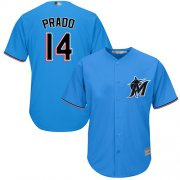 Wholesale Cheap Marlins #14 Martin Prado Blue Cool Base Stitched Youth MLB Jersey