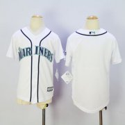 Wholesale Cheap Mariners Blank White Cool Base Stitched Youth MLB Jersey
