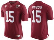 Wholesale Cheap Men's Alabama Crimson Tide #15 Ronnie Harrison Red 2017 Championship Game Patch Stitched CFP Nike Limited Jersey
