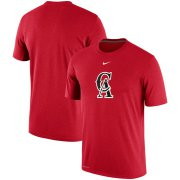 Wholesale Cheap Los Angeles Angels Nike Batting Practice Logo Legend Performance T-Shirt Red