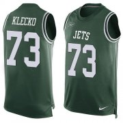 Wholesale Cheap Nike Jets #73 Joe Klecko Green Team Color Men's Stitched NFL Limited Tank Top Jersey