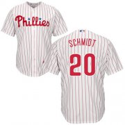 Wholesale Cheap Phillies #20 Mike Schmidt White(Red Strip) Cool Base Stitched Youth MLB Jersey