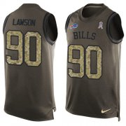 Wholesale Cheap Nike Bills #90 Shaq Lawson Green Men's Stitched NFL Limited Salute To Service Tank Top Jersey
