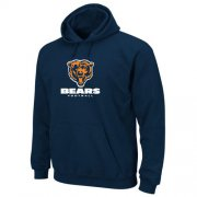 Wholesale Cheap Chicago Bears Critical Victory Pullover Hoodie Navy Blue