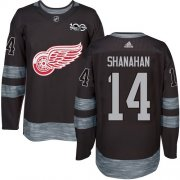 Wholesale Cheap Adidas Red Wings #14 Brendan Shanahan Black 1917-2017 100th Anniversary Stitched NHL Jersey