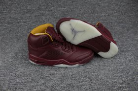 Wholesale Cheap Air Jordan 5 PRM Shoes Wine Red/Yellow