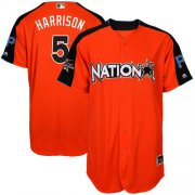 Wholesale Cheap Pirates #5 Josh Harrison Orange 2017 All-Star National League Stitched Youth MLB Jersey