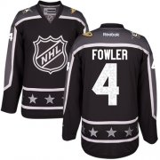 Wholesale Cheap Ducks #4 Cam Fowler Black 2017 All-Star Pacific Division Stitched NHL Jersey