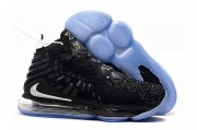 Wholesale Cheap Nike Lebron James 17 Air Cushion Shoes Black Silver