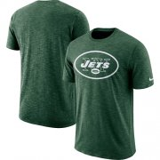 Wholesale Cheap Men's New York Jets Nike Green Sideline Cotton Slub Performance T-Shirt