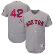 Wholesale Cheap Boston Red Sox #42 Majestic 2019 Jackie Robinson Day Flex Base Jersey Gray