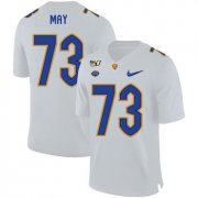 Wholesale Cheap Pittsburgh Panthers 73 Mark May White 150th Anniversary Patch Nike College Football Jersey