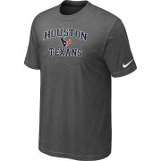 Wholesale Cheap Nike NFL Houston Texans Heart & Soul NFL T-Shirt Crow Grey
