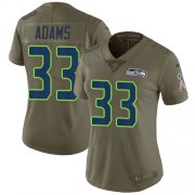 Wholesale Cheap Nike Seahawks #33 Jamal Adams Olive Women's Stitched NFL Limited 2017 Salute To Service Jersey