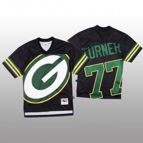 Wholesale Cheap NFL Green Bay Packers #77 Billy Turner Black Men\'s Mitchell & Nell Big Face Fashion Limited NFL Jersey