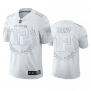 Wholesale Cheap New England Patriots #12 Tom Brady Men's Nike Platinum NFL MVP Limited Edition Jersey
