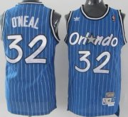Wholesale Cheap Orlando Magic #32 Shaquille O'neal Blue Swingman Throwback Jersey