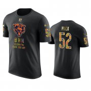 Wholesale Cheap Bears #52 Khalil Mack Black Men's Black History Month T-Shirt