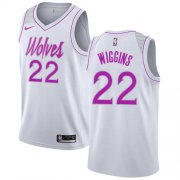 Wholesale Cheap Nike Timberwolves #22 Andrew Wiggins White NBA Swingman Earned Edition Jersey