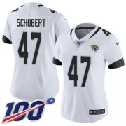 Wholesale Cheap Nike Jaguars #47 Joe Schobert White Women's Stitched NFL 100th Season Vapor Untouchable Limited Jersey