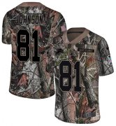 Wholesale Cheap Nike Lions #81 Calvin Johnson Camo Youth Stitched NFL Limited Rush Realtree Jersey