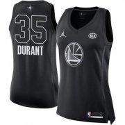 Wholesale Cheap Nike Golden State Warriors #35 Kevin Durant Black Women's NBA Jordan Swingman 2018 All-Star Game Jersey