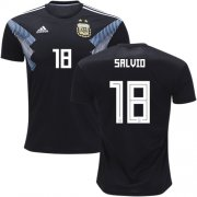 Wholesale Cheap Argentina #18 Salvio Away Kid Soccer Country Jersey