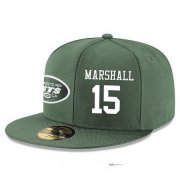 Wholesale Cheap New York Jets #15 Brandon Marshall Snapback Cap NFL Player Green with White Number Stitched Hat