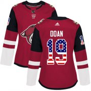 Wholesale Cheap Adidas Coyotes #19 Shane Doan Maroon Home Authentic USA Flag Women's Stitched NHL Jersey