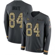 Wholesale Cheap Nike Buccaneers #84 Cameron Brate Anthracite Salute to Service Men's Stitched NFL Limited Therma Long Sleeve Jersey