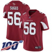 Wholesale Cheap Nike Cardinals #56 Terrell Suggs Red Team Color Men's Stitched NFL 100th Season Vapor Limited Jersey