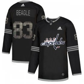 Wholesale Cheap Adidas Capitals #83 Jay Beagle Black_1 Authentic Classic Stitched NHL Jersey