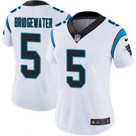 Wholesale Cheap Nike Panthers #5 Teddy Bridgewater White Women\'s Stitched NFL Vapor Untouchable Limited Jersey