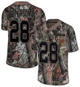 Wholesale Cheap Nike Vikings #28 Adrian Peterson Camo Youth Stitched NFL Limited Rush Realtree Jersey