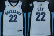 Wholesale Cheap Memphis Grizzlies #22 Rudy Gay Revolution 30 Swingman White Jersey