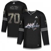 Wholesale Cheap Adidas Capitals #70 Braden Holtby Black_1 Authentic Classic Stitched NHL Jersey