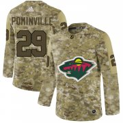 Wholesale Cheap Adidas Wild #29 Jason Pominville Camo Authentic Stitched NHL Jersey