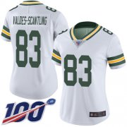 Wholesale Cheap Nike Packers #83 Marquez Valdes-Scantling White Women's Stitched NFL 100th Season Vapor Limited Jersey