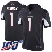 Wholesale Cheap Nike Cardinals #1 Kyler Murray Black Alternate Men's Stitched NFL 100th Season Vapor Limited Jersey