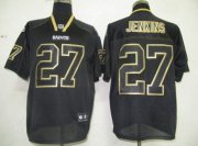 Wholesale Cheap Saints #27 Malcolm Jenkins Lights Out Black Stitched NFL Jersey