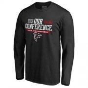 Wholesale Cheap Men's Atlanta Falcons Pro Line by Fanatics Branded Black 2016 NFC Conference Champions Our Conference Long Sleeve T-Shirt