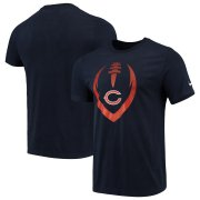 Wholesale Cheap Chicago Bears Nike Fan Gear Modern Icon Performance T-Shirt Navy