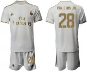 Wholesale Cheap Real Madrid #28 Vinicius Jr. White Home Soccer Club Jersey