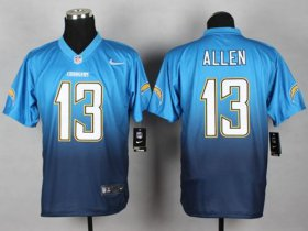 Wholesale Cheap Nike Chargers #13 Keenan Allen Electric Blue/Navy Blue Men\'s Stitched NFL Elite Fadeaway Fashion Jersey