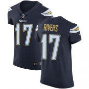 Wholesale Cheap Nike Chargers #17 Philip Rivers Navy Blue Team Color Men's Stitched NFL Vapor Untouchable Elite Jersey