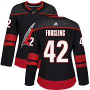 Wholesale Cheap Adidas Hurricanes #42 Gustav Forsling Black Alternate Authentic Women's Stitched NHL Jersey